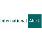 International Alert testimonial and logo